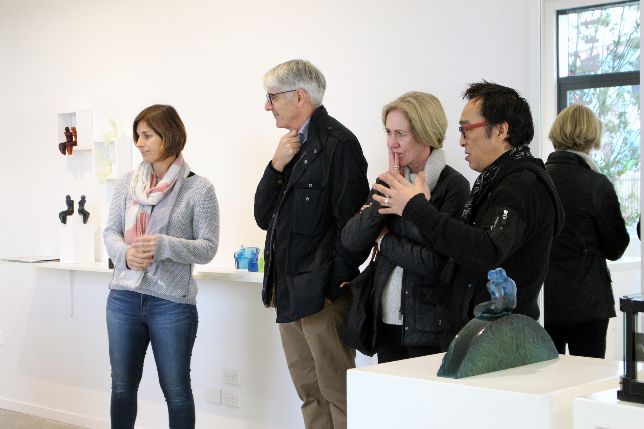 Visitors have been had the opportunity to talk to the artist herself about the glass sculpture process and themes.