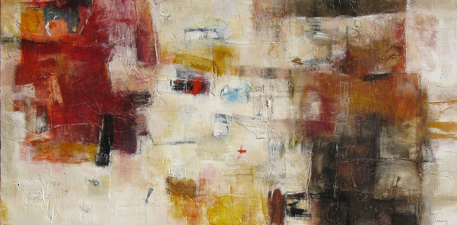 """Tamar Kander - """"I am intrigued with translating my experiences into evocative universal forms or symbols by using color, tone, texture and markings"""""""