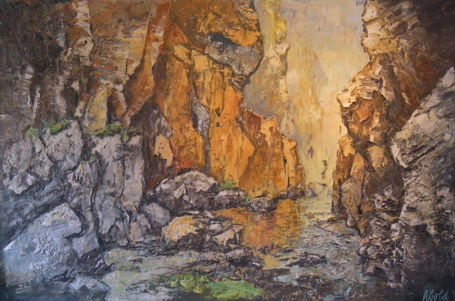 """hans schiebold - """"These are landscapes, but they are very process oriented."""
