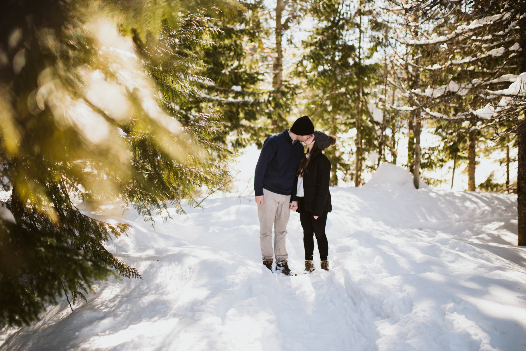 Snowy Oregon Engagement - Mt Hood National Forest