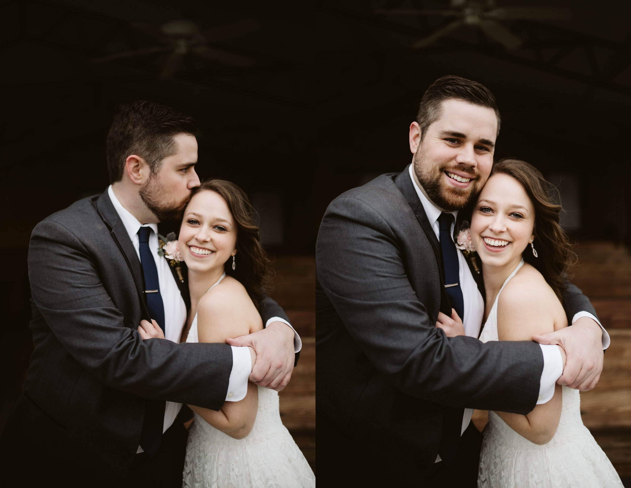 Bride and Groom Portraits at A Rustic Wedding at Barn in the Bend in Nashville, Tennessee