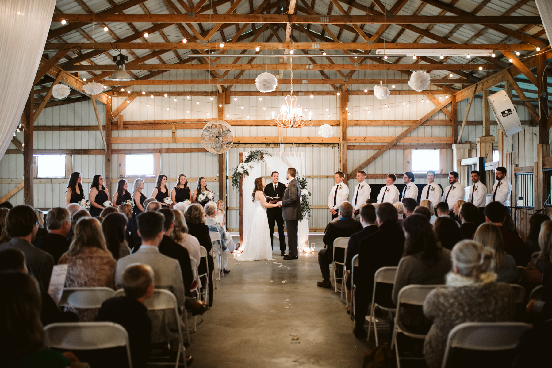 Rainy indoor ceremony, A Rustic Wedding at Barn in the Bend in Nashville, Tennessee