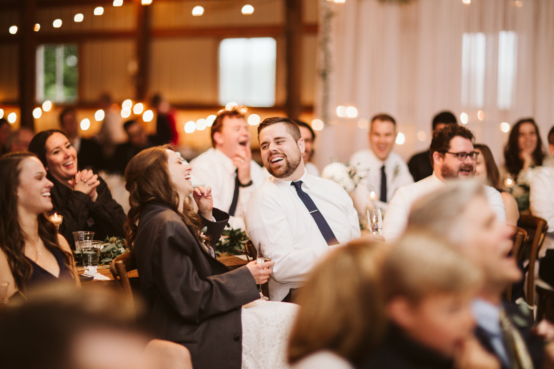 Toasts at A Rustic Wedding at Barn in the Bend in Nashville, Tennessee