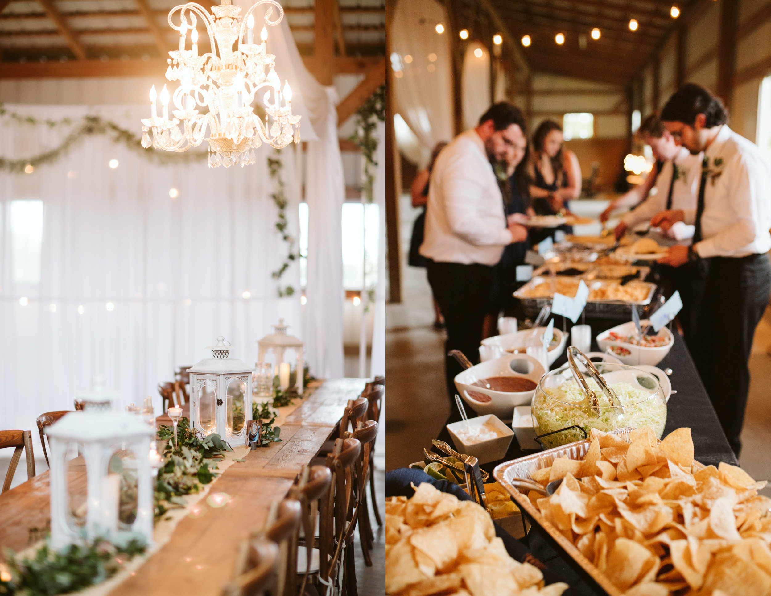 Baja Burrito catering A Rustic Wedding at Barn in the Bend in Nashville, Tennessee