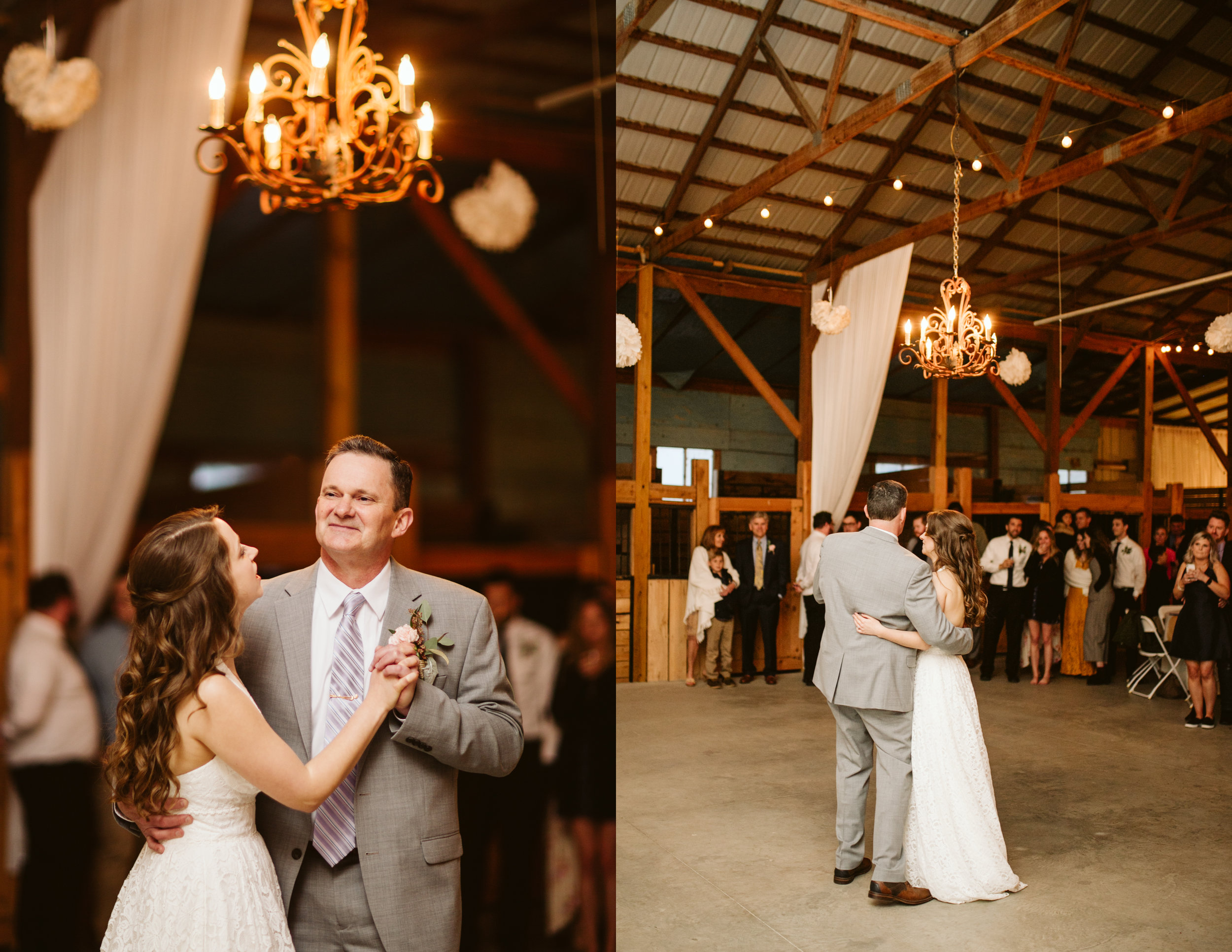 Father daughter dance at A Rustic Wedding at Barn in the Bend in Nashville, Tennessee