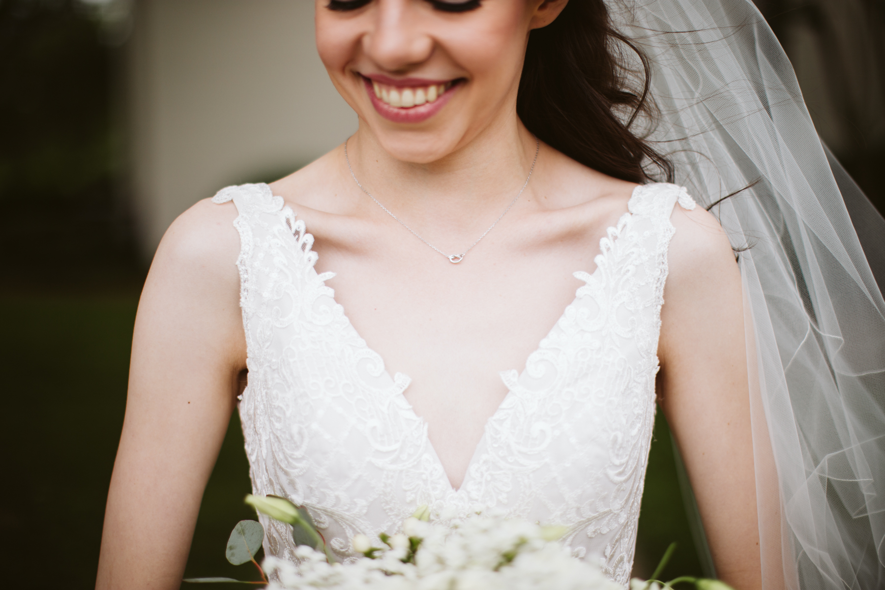 bridal portraits before a rainy summer wedding at brentwood hills church in Nashville, tennessee