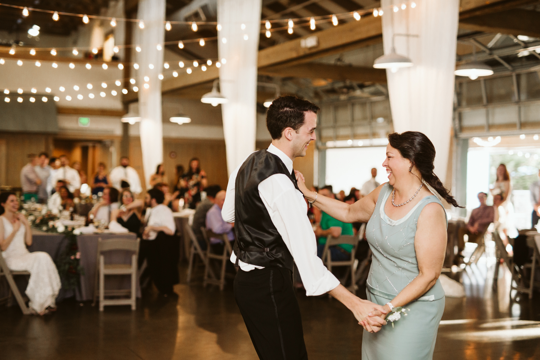mother and son dance at a Wedding reception at the loveless cafe and barn in nashville, tennessee