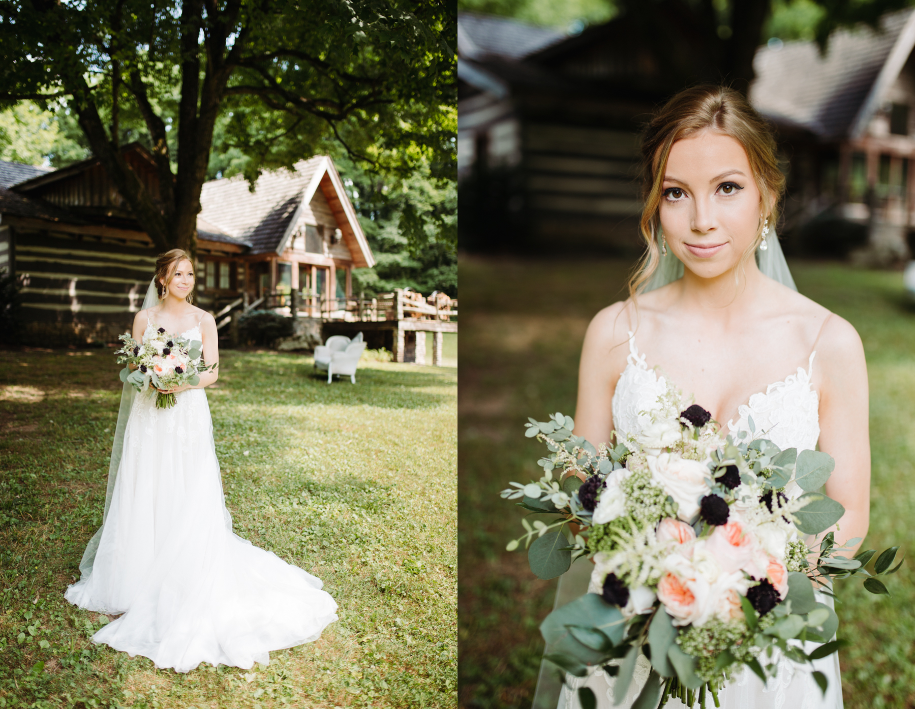 bridal portraits at a stables at strawberry creek wedding in Knoxville, tennessee