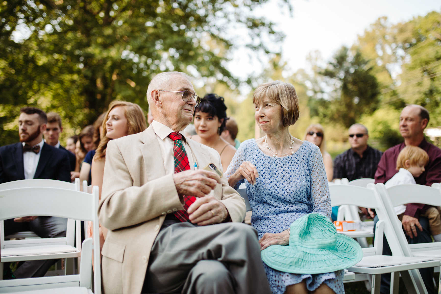 Maternal and paternal grandparents of the bride at a stables at strawberry creek wedding in knoxville, tennessee