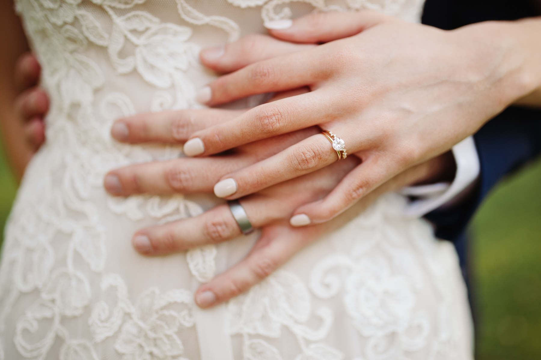 wedding rings after a stables at strawberry creek wedding in knoxville, tennessee