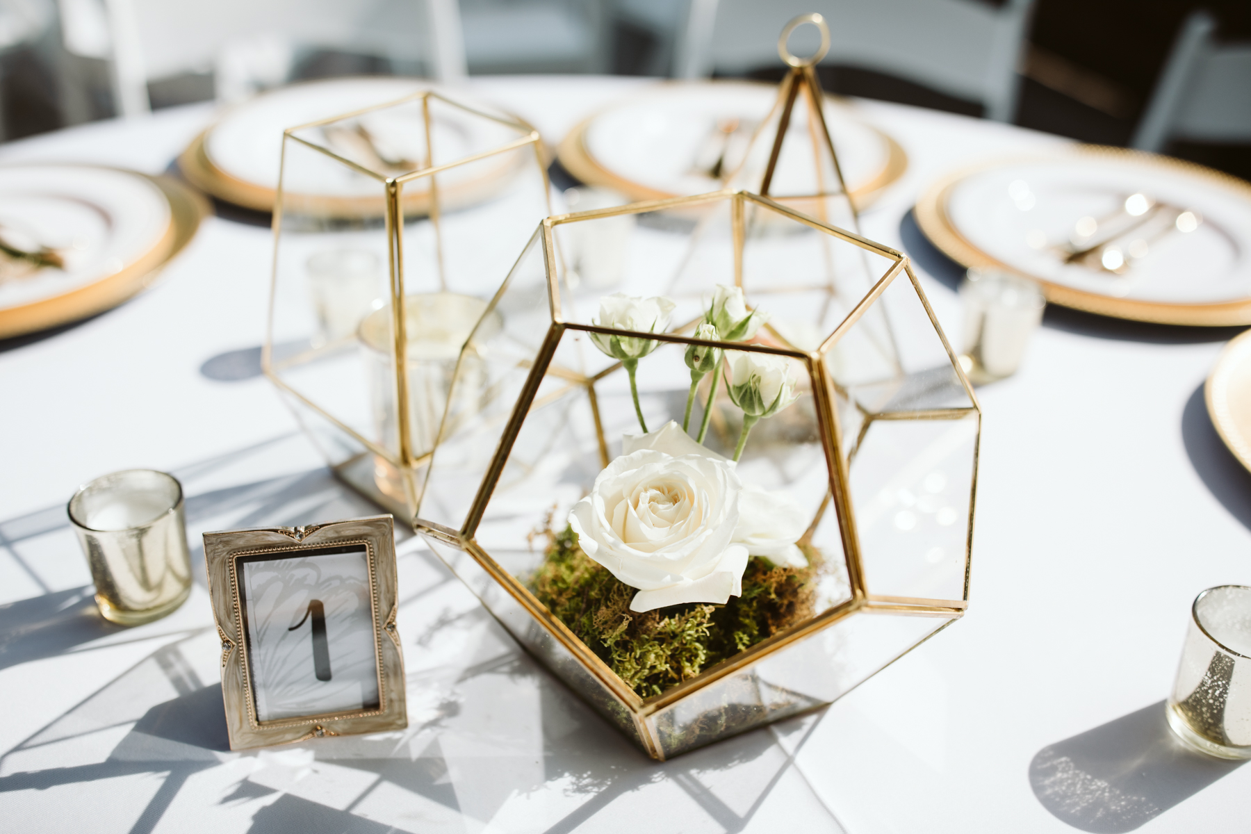 Reception decor at a stables at strawberry creek wedding in knoxville, tennessee