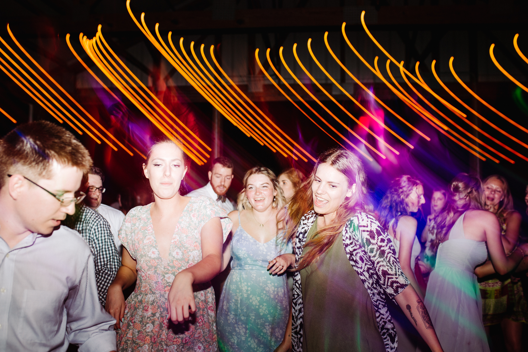 light trail dance floor photos at a stables at strawberry creek wedding in knoxville, tennessee