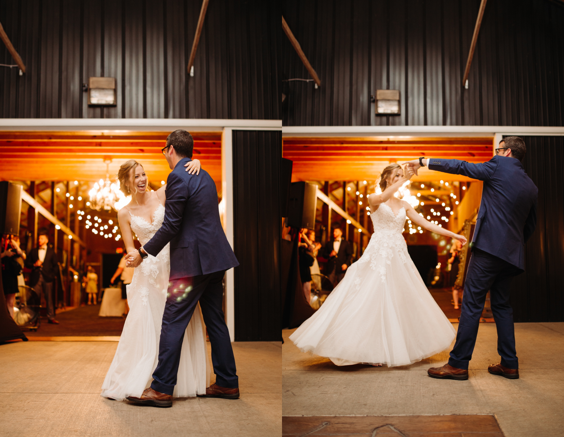 Father daughter dance at a stables at strawberry creek wedding in knoxville, tennessee