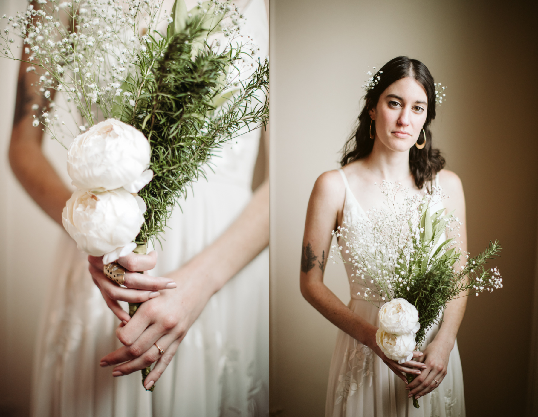 Elegant indoor bridal portraits at a downtown knoxville wedding at redeemer church