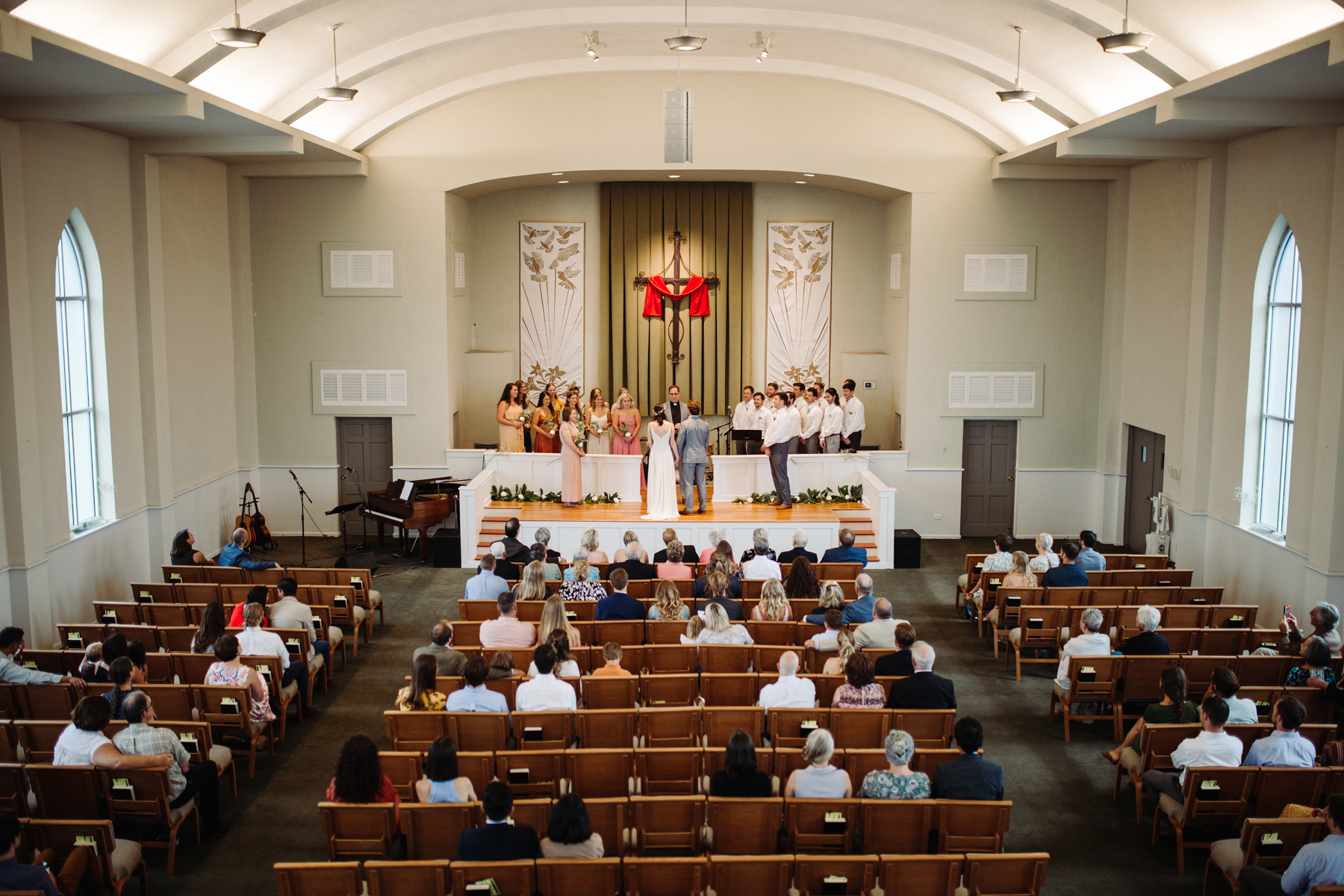 Wedding ceremony at Redeemer Church in downtown Knoxville, Tennessee