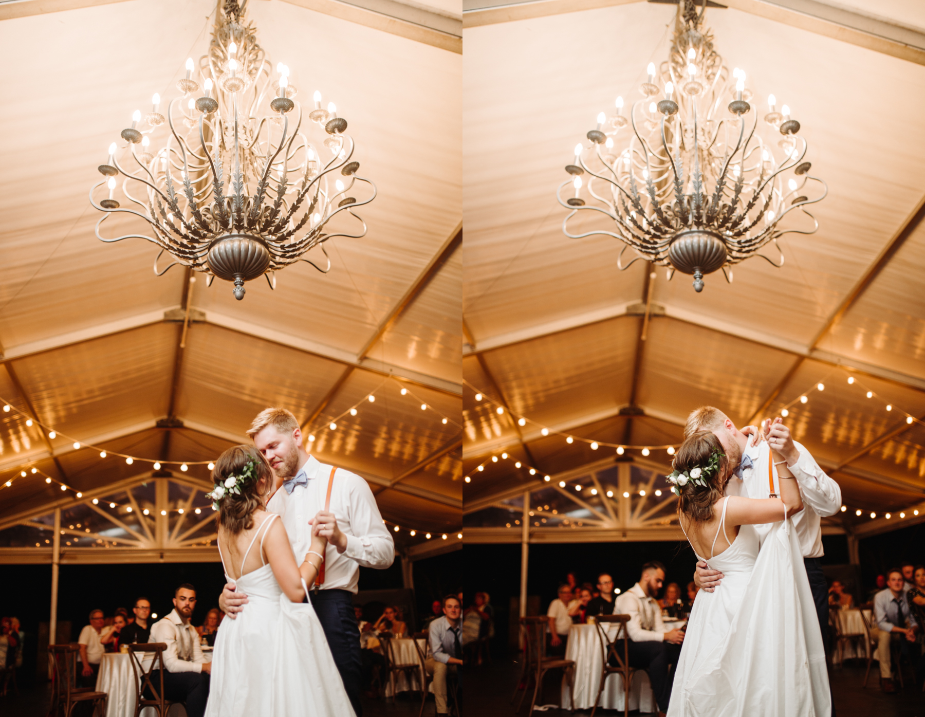 First dance at a Sunny summer wedding at Dara's Garden in Knoxville, Tennessee