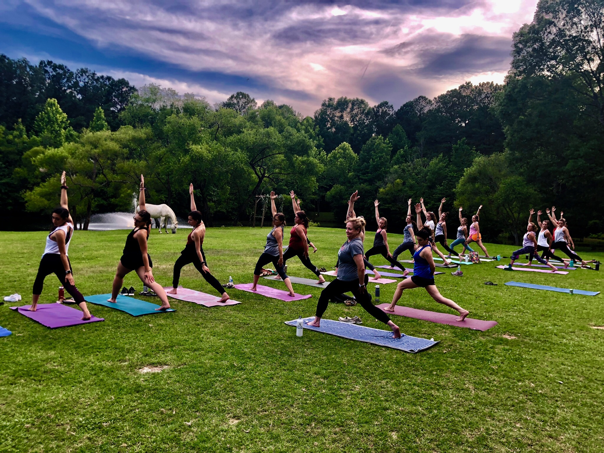 Sunset Yoga - Join us for an evening of sunset Yoga on the farm ever Tuesday. Donation based class with a $5 minimum. A portion of the proceeds will go to a local charity picked by the class. 7:30 to 8:30, everyone is invited.