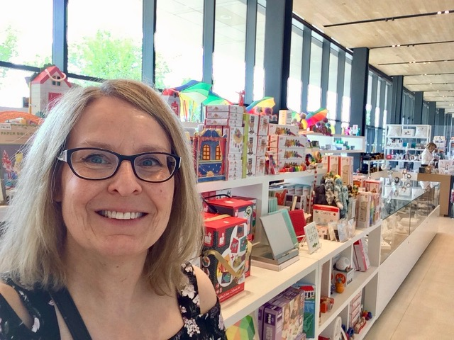 """Sally Meadows checks out the kids' art section in the brand-new Remai Modern art gallery in Saskatoon."""