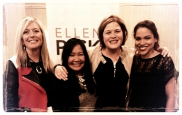 Ellen at a WIMM Canada event with VP of Ops Sherry Stahl, See, Hear, Love Host Melinda Estabrooks and Founder Hollie.