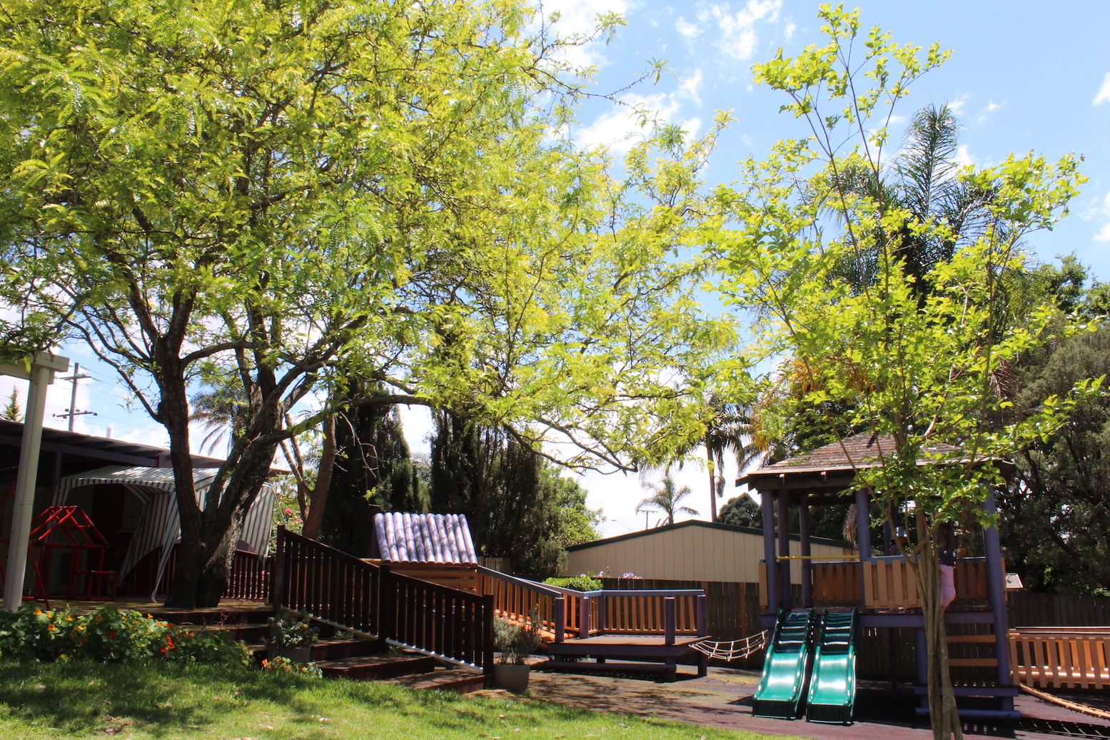 General Facilities - Our general facility areas include baby change areas and bathrooms (including disability access), as well as a variety of facilities for parents, visiting guest speakers and professionals, including a tea and coffee station, library and book exchange. The entire Kindergarten is air-conditioned for the comfort of children all year round with large windows allowing for fresh air and views to the beautiful outdoor areas.