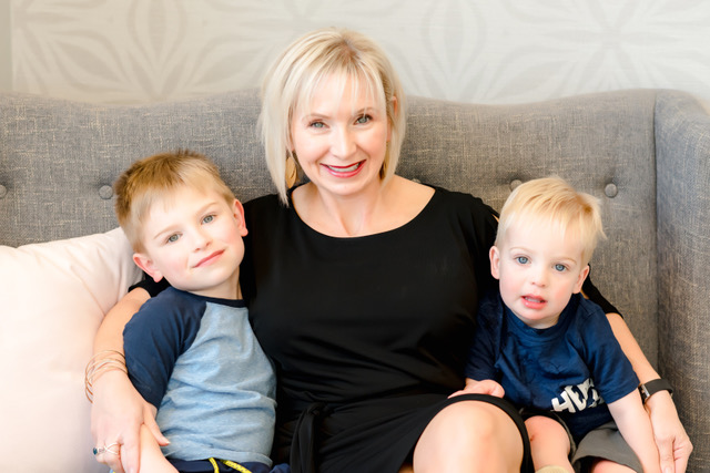 Kelly, co-owner of Lace, and two of her boys