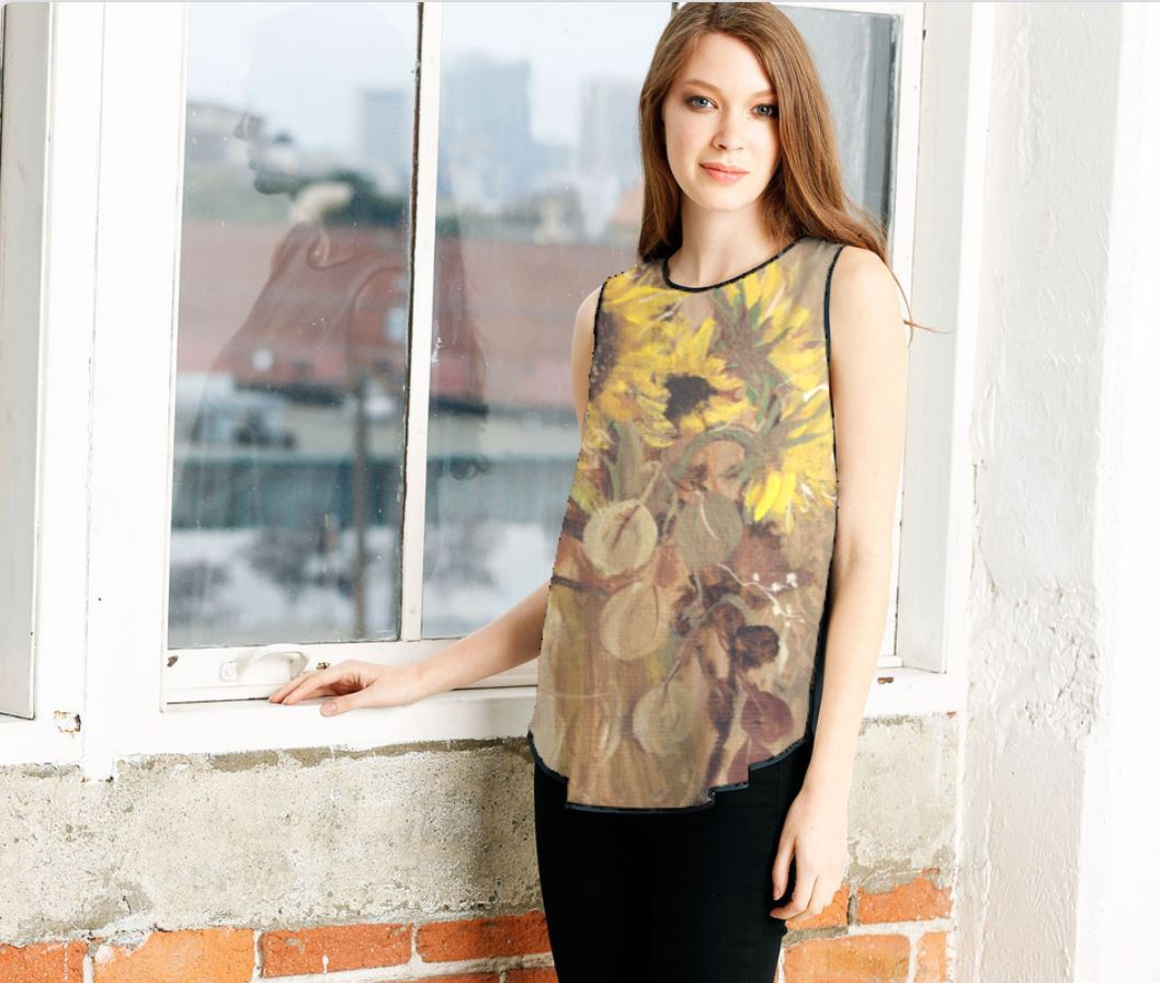 sleeveless sunflower 33 model.JPG