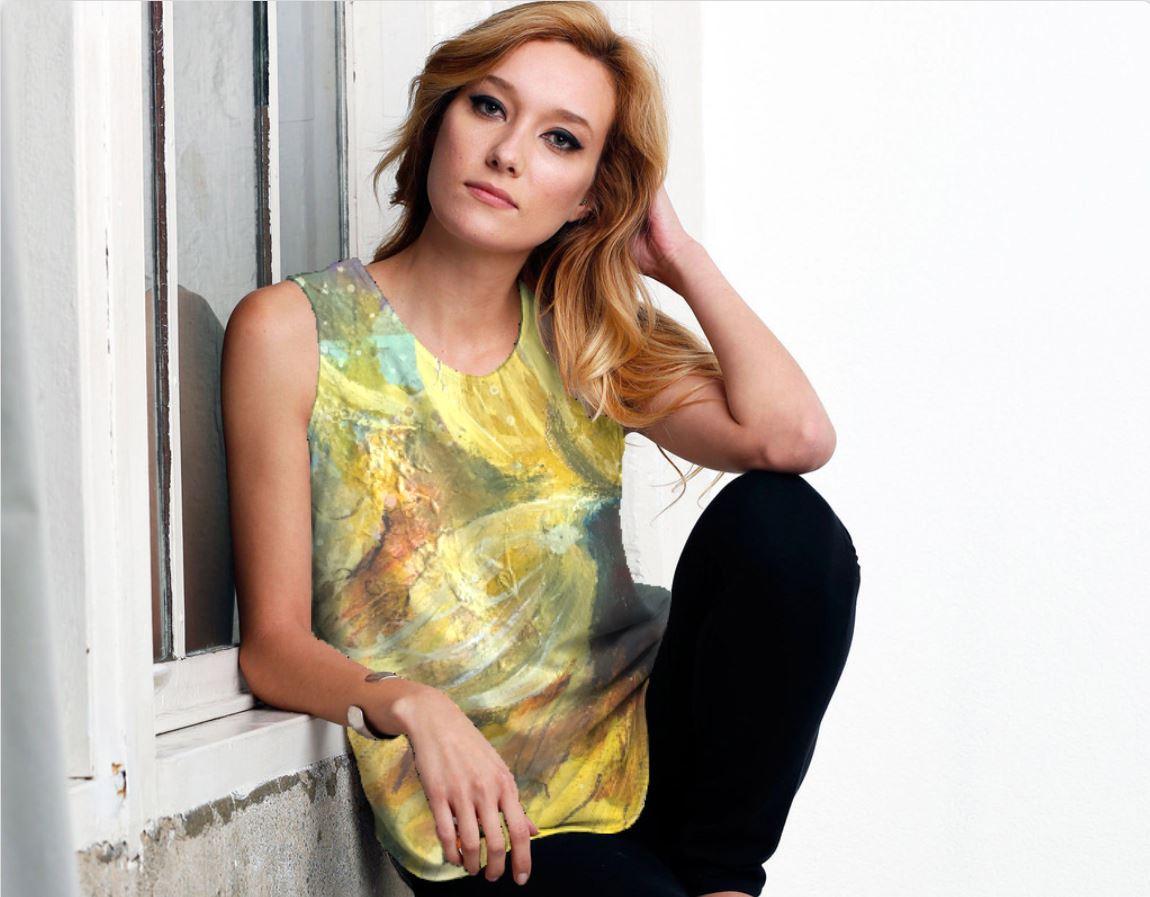 sunflower sleeveless model.JPG
