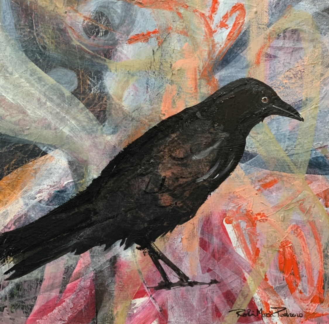 evermore rainbow crow painting robin maria pedrero dallas 75201.jpg