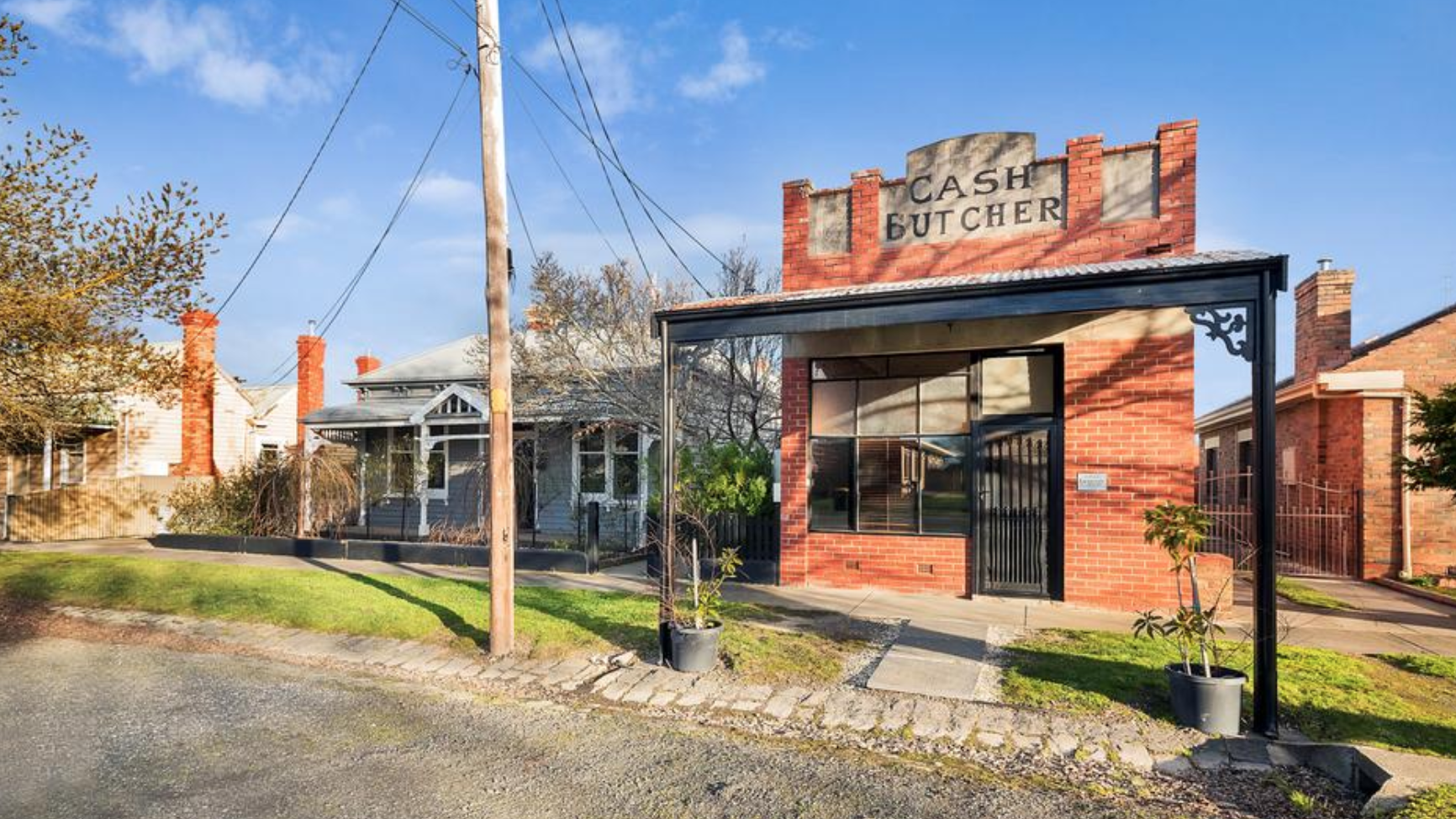 Vic: Vintage butcher shop - hell yes