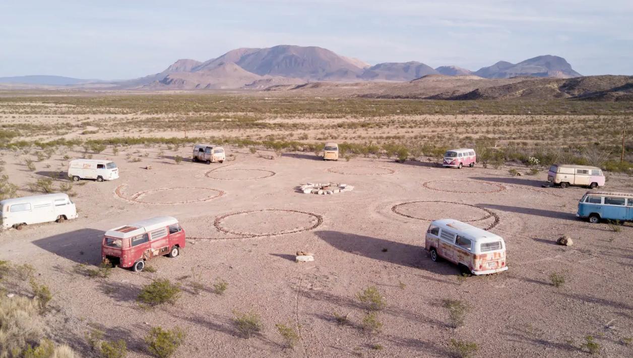 , Texas, USA: #Vanlife campsite