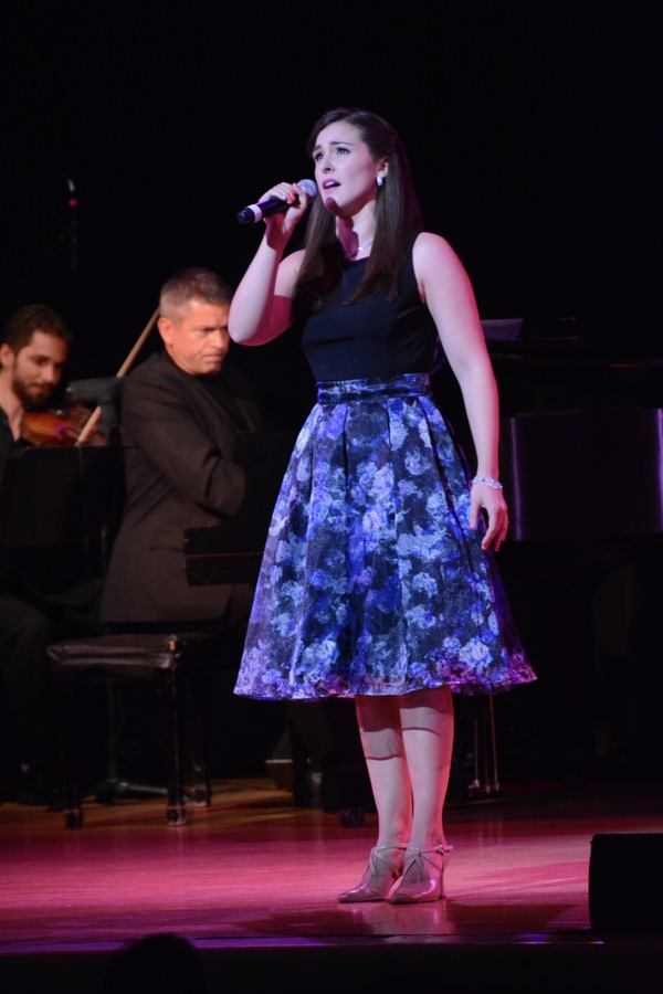 "Stephanie Bacastow, elegant and blessed with a thrilling soprano voice, soared with ""My White Knight"" from ""The Music Man."" - BROADWAY RISING STARS CONCERT 2018William WolfWolf Entertainment Guide"
