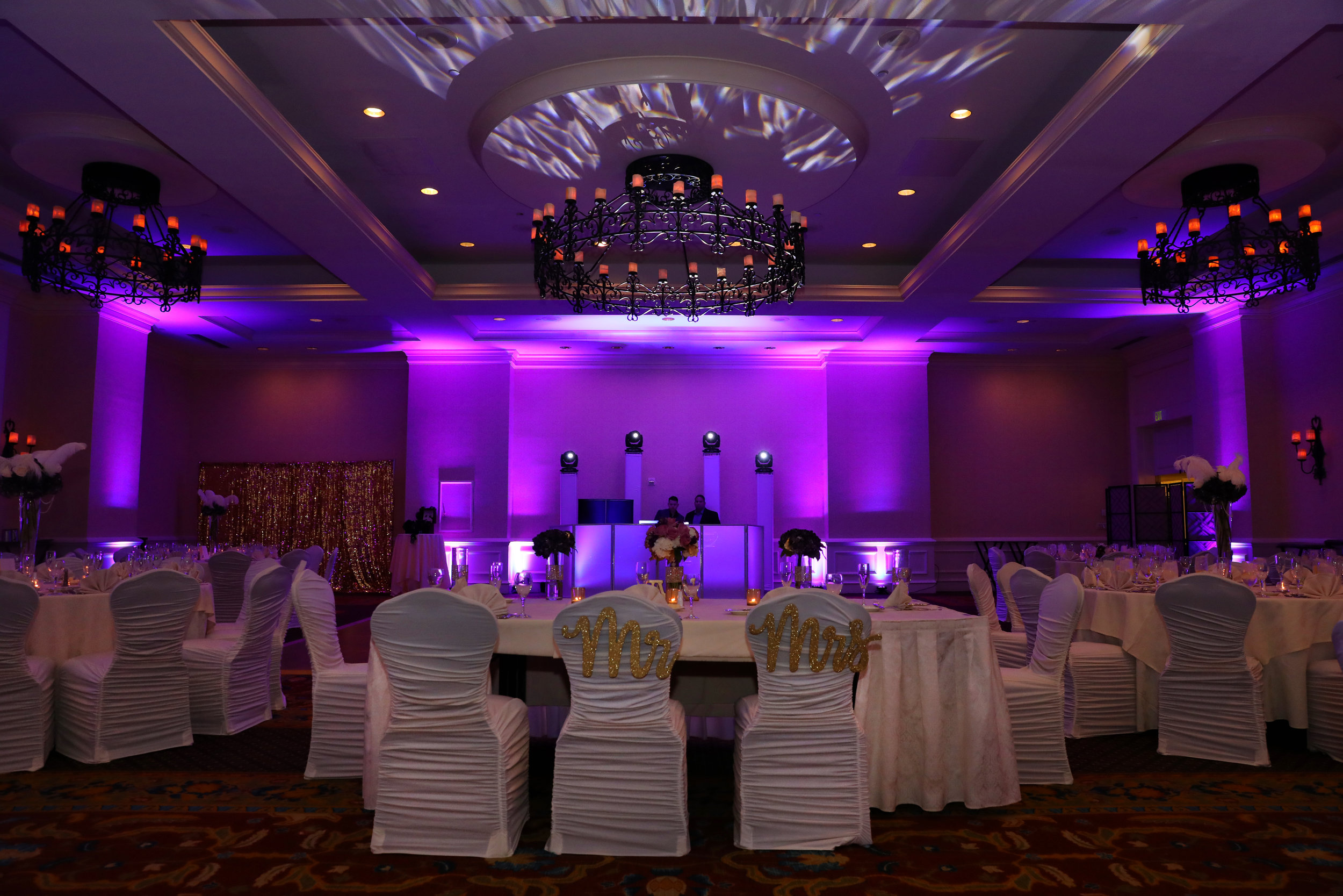 LIGHTING DESIGN - Smart lighting design can dramatically change the atmosphere of your event. From subtle accent lighting to venue-transforming uplighting.