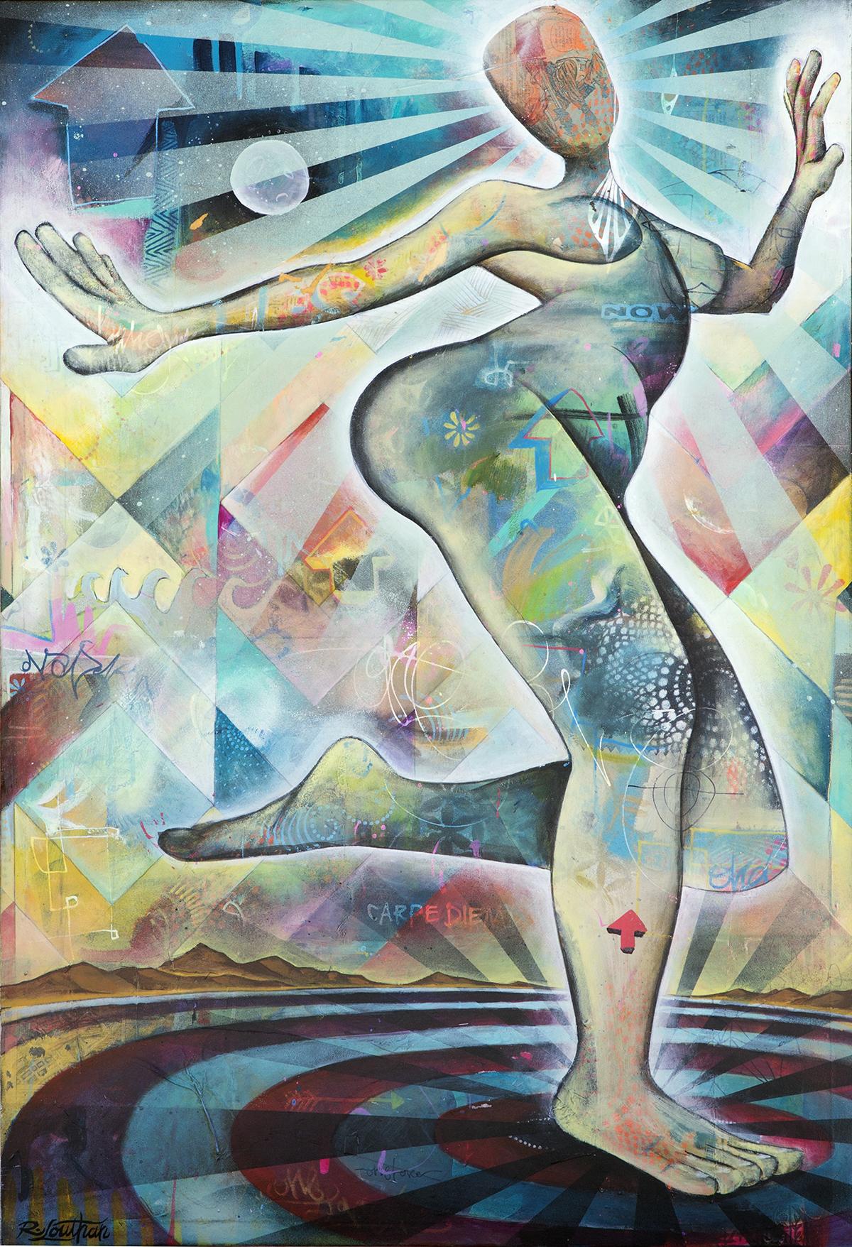'Abundance' Acrylic on canvas. 36h x 24w. 2015