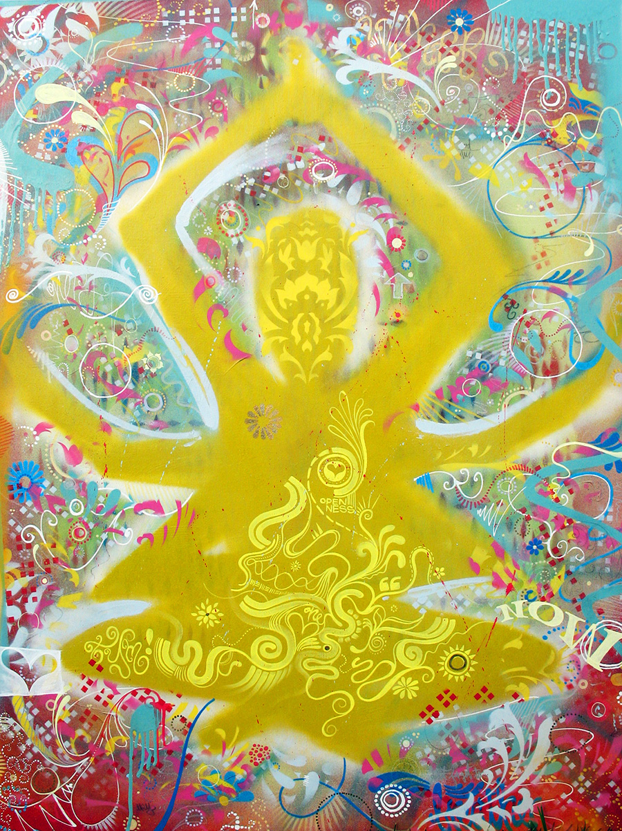 'Buddha' Acrylic/Aerosol on canvas. 60h x 40w. 2011