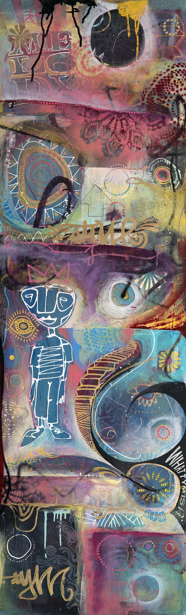 'Oldendaze' Acrylic on canvas. 48h x 16w. 2012