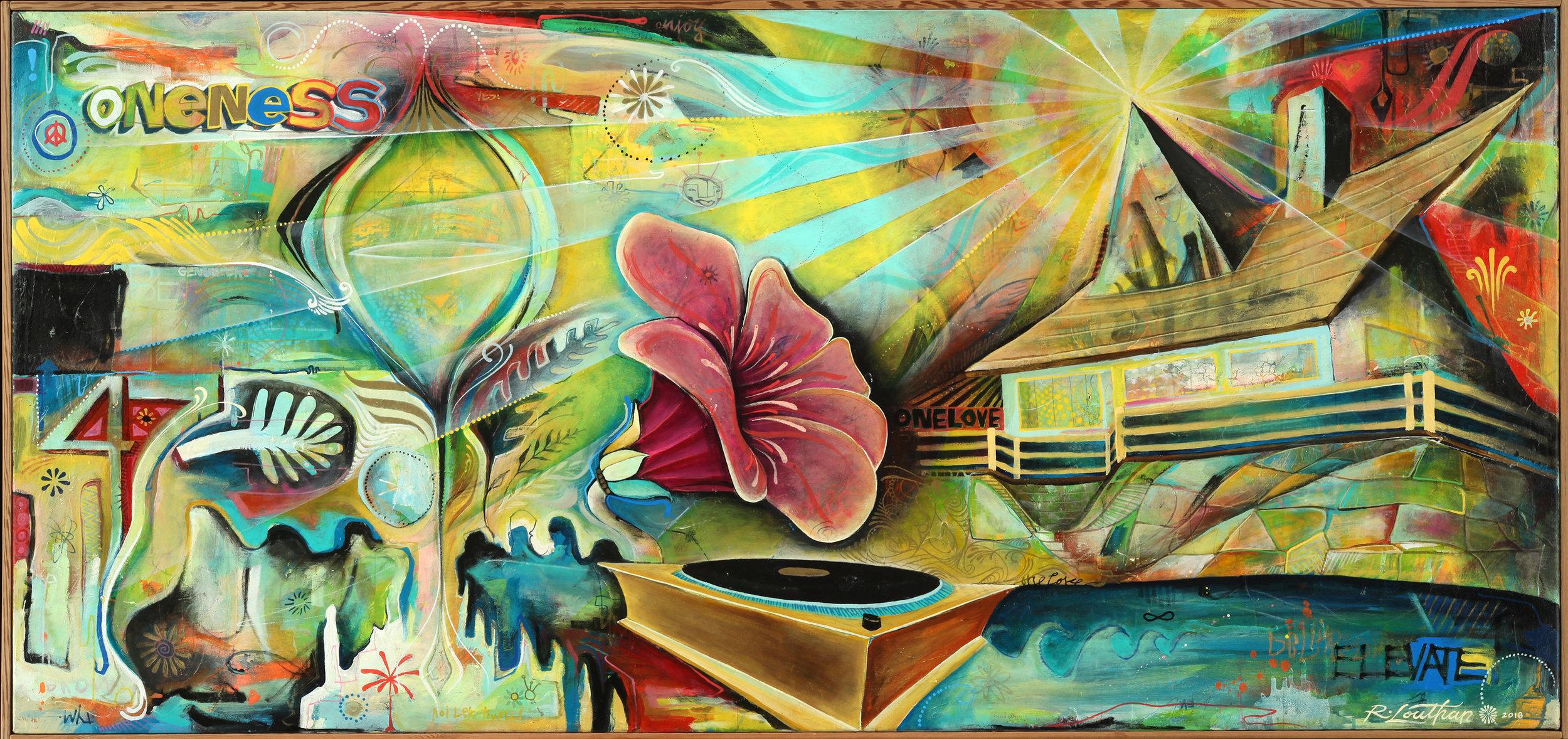 "'Halcyon' Acrylic on canvas. 60""x30"". 2018"