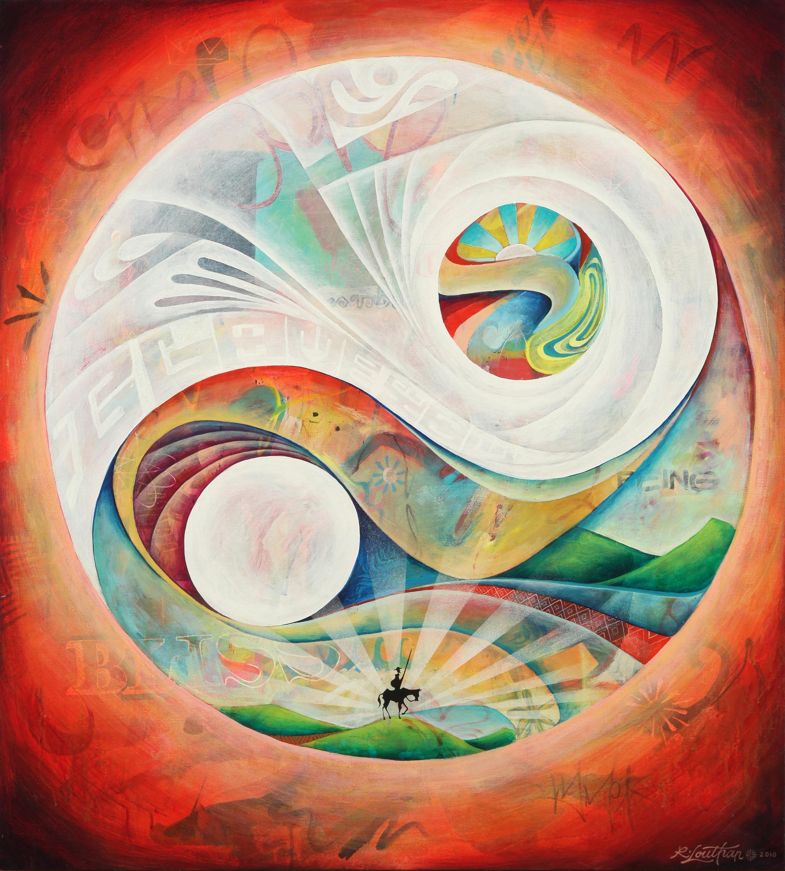 "'Wholeness' Acrylic on canvas. 38""x42"". 2018"