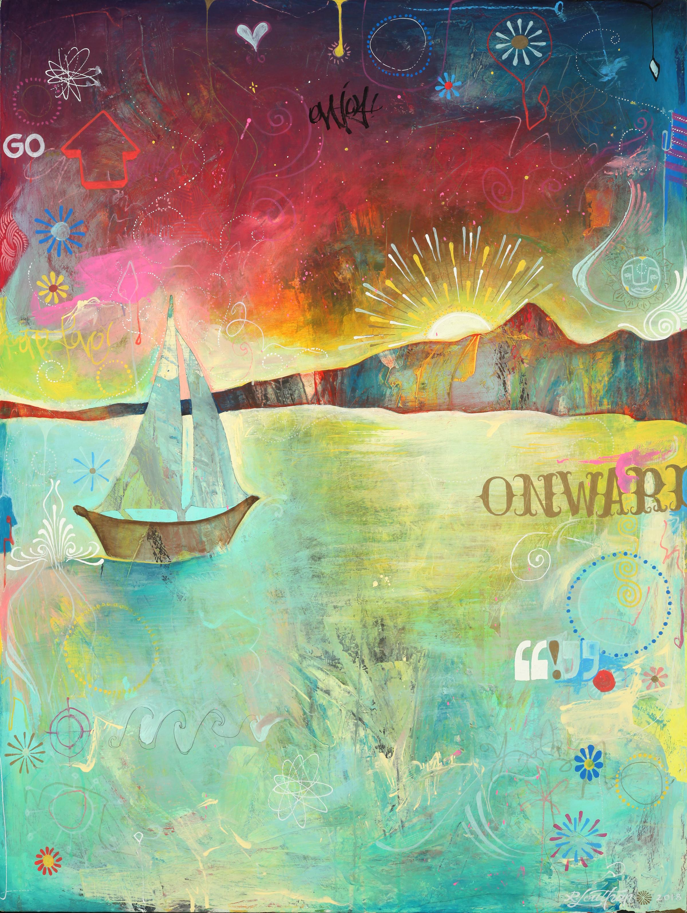 "'We Float Econo' Acrylic on canvas. 30""x40"". 2018"