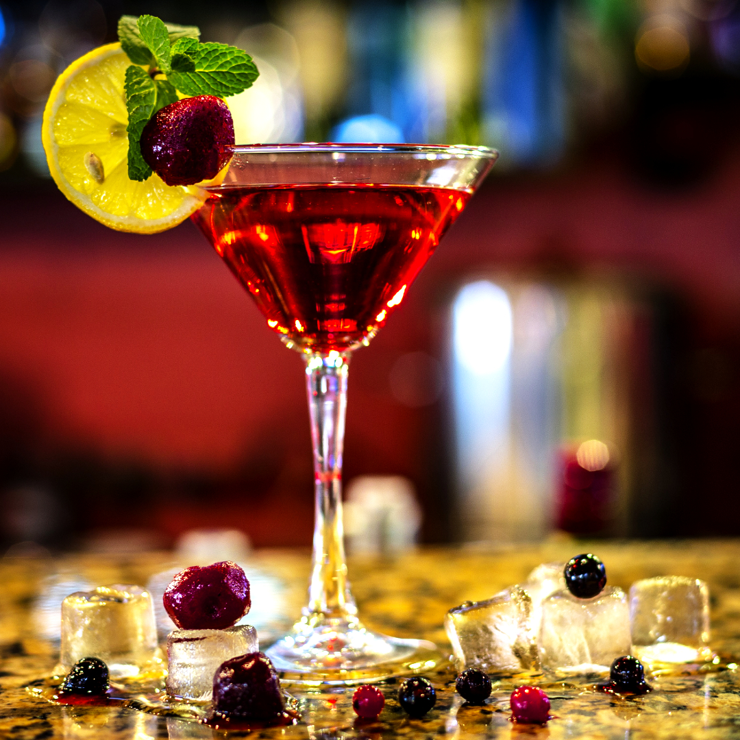 Easy berry martini - In a shaker, insert the following ingredients3/4 cup of red berries2-5 sugar teaspoons1 1/2 oz Lavikob vodka1/2 oz lemon liquorFill with iceShake well and serve in a martini glassDecorate with slice of lemon, mint and red berry