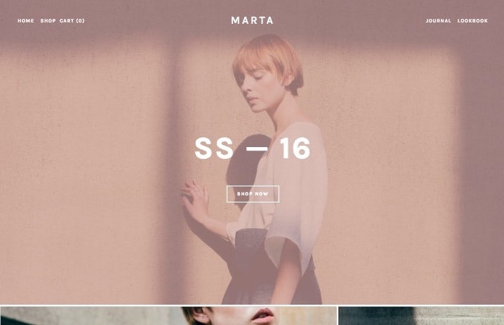 Template Squarespace - Marta
