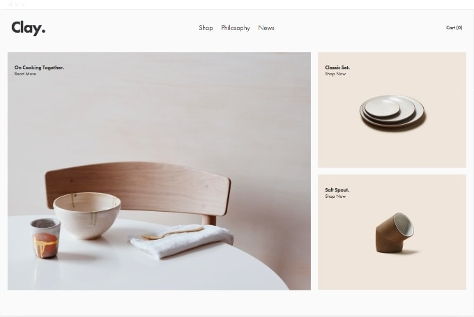 Template Squarespace - Clay