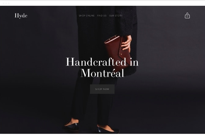 Template Squarespace - Hyde