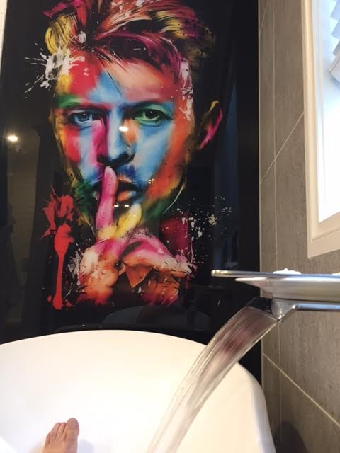 Bathroom Printed Splashback - David Bowie image