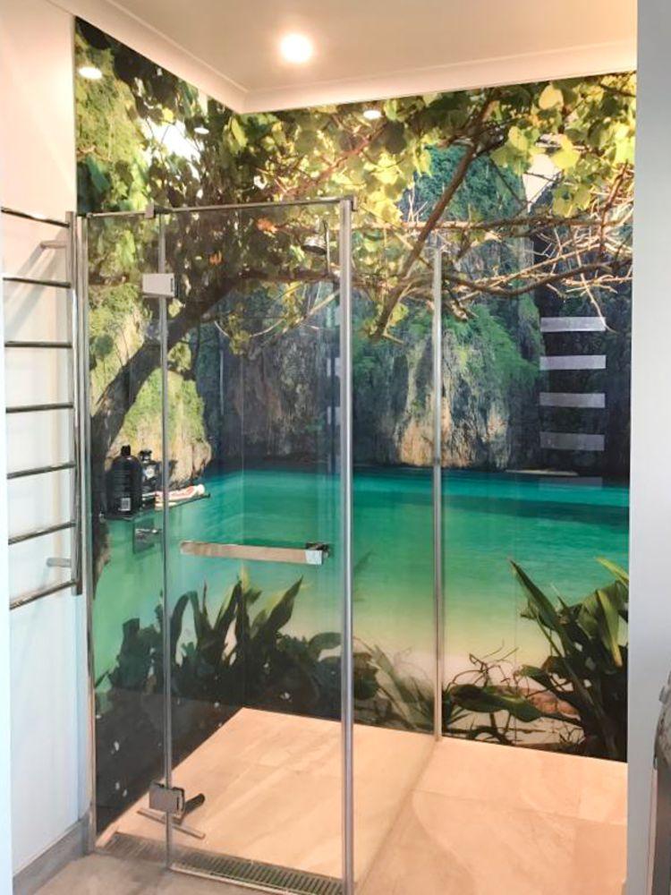 Printed Shower Splashbacks - Waterfall image