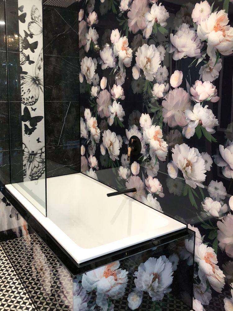 Bathroom Printed Splashbacks - Floral design
