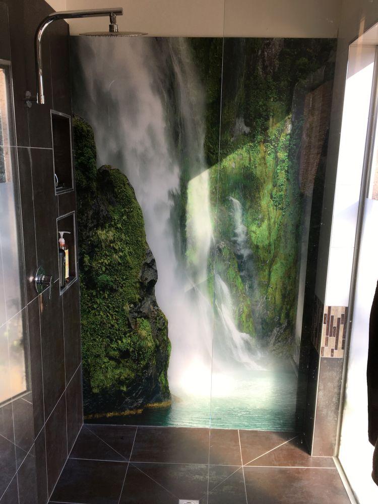 Printed Splashbacks - Bathroom Feature Waterfall