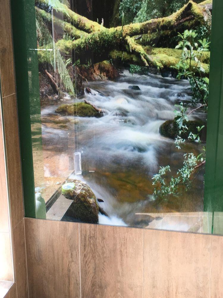 Printed Bathroom Splashbacks - Running water