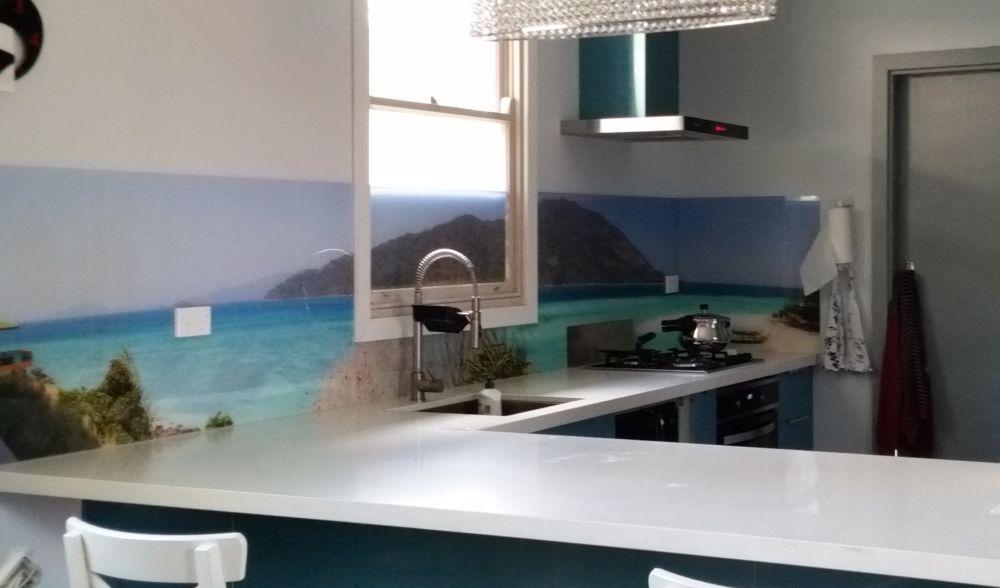 Printed Acrylic Splashbacks - Even over the window