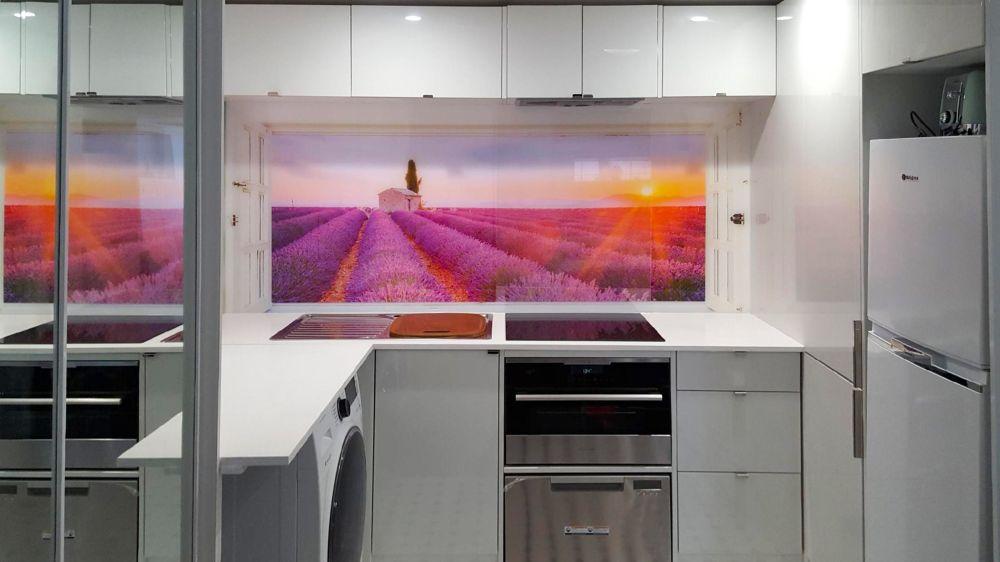 Printed Splashback - Lavender Fields image