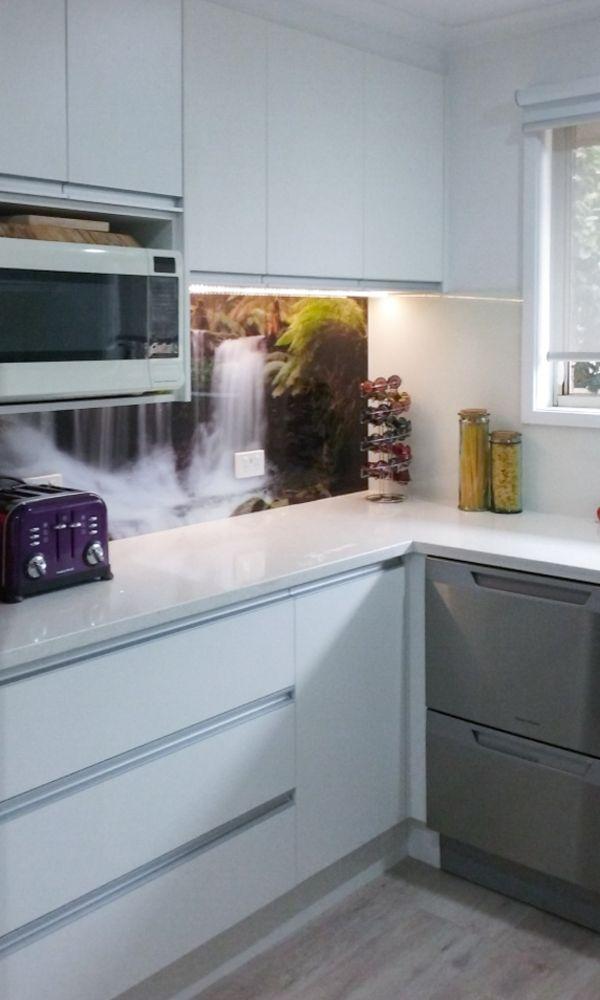 Printed Kitchen Splashback - Waterfall